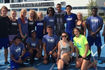 IMG athletes with 110m hurdler Orlando Ortega